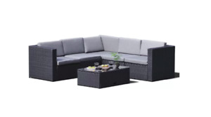New Patio Set - Outdoor sectional with table