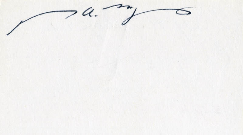 GARY A. MYERS - SIGNATURE(S)