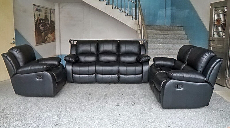 Pcs Furniture Sofa Leather Couch Set Living Room
