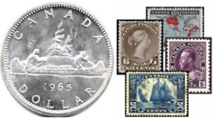 BUYING COINS + STAMP / TIMBRE COLLECTIONS OF CANADA, USA & WORLD