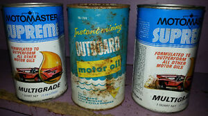 3 MOTO MASTER CTC VINTAGE OIL CAN CANS LOT