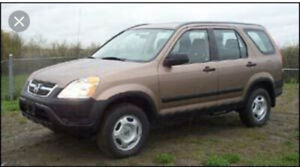 2003 Honda crv for sale as is for $1500.