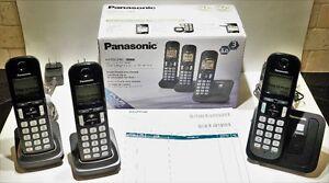 Cordless Phones With Caller ID ~ Panasonic 3-Handset DECT 6.0