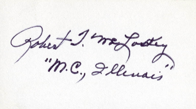 ROBERT T. MCLOSKEY - SIGNATURE(S)