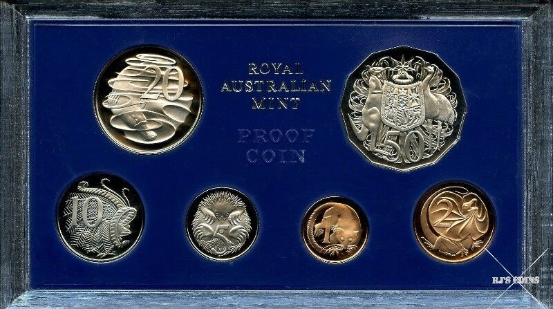 Australian 1976 Proof Six Coin Year Set from the Royal Australian Mint