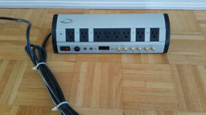 SURGE PROTECTOR POWER BAR 8 OUTLETS, COAX INTERNET