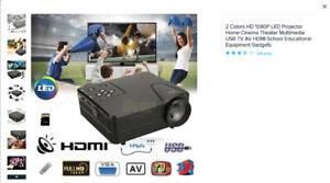 Projecteur 2 couleurs HD 1080P LED - Cinéma théâtral maison ...