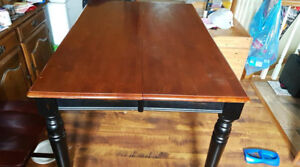 Pub Height Table & Chairs (6 chairs + 2 for parts/repair)