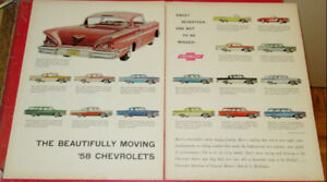 LARGE 1958 CHEVY ALL MODELS AD - IMPALA BEL AIR BISCAYNE DEL RAY