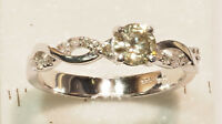 14kt Gold Diamond Ring (2.79g) For Sale by Online Auction