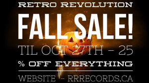 FALL SALE  !! 25 % off EVERYTHING at Retro Revolution Records