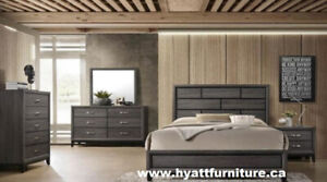 Designed 7pcs Wooden  Bedroom Set - Deliver in GTA