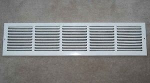 8.5cm x 79.5cm White Return Air Grille Vent Cover GOOD