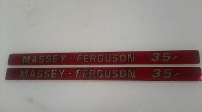 Massey Ferguson 35 Hood Decals