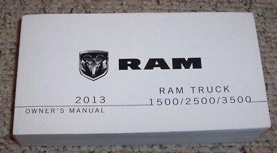 2013 Dodge 3500 Ram Truck Owner Manual Tradesmen SLT Sport Laramie Longhorn R/T