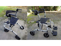 EliteCare Aluminium Hybrid Rollator/Transit wheelchair