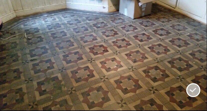 20 Sqm Original Victorian Floor Tiles Central Cardiff Reclaimed