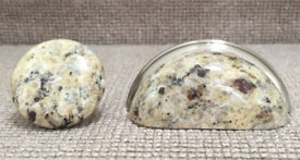 21 x 50mm + 15 x cup pulls cream granite handles welsh dresser bathroom chest of drawers