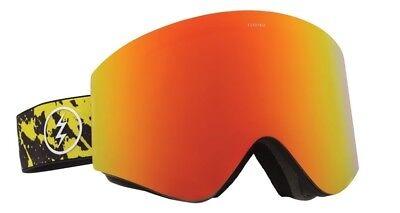 00ee2f96253d NEW Electric EGX Yellow Splatter Red Mirror Mens ski snowboard goggles  Ret 180