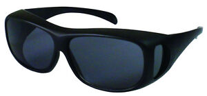 COVER-OVER-SUN-GLASSES-FITS-OVER-RX-GLASSES-SMOKE-GRAY-LENS
