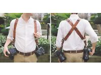 HoldFast MoneyMaker genuine leather wedding photographer's double strap