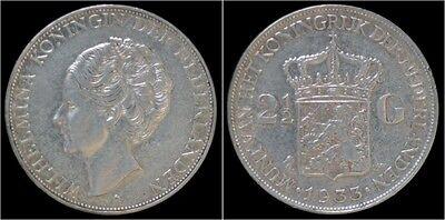 Nederland Wilhelmina I 2 1/2 gulden(rijksdaalder)1933