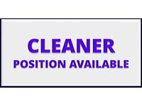 Cleaner position available