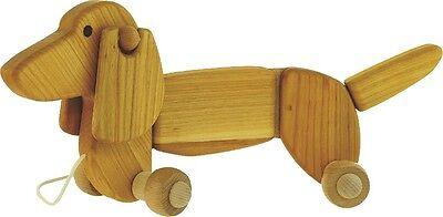 Cane da tirare - Dachshund - Giocattoli di legno di Bajo