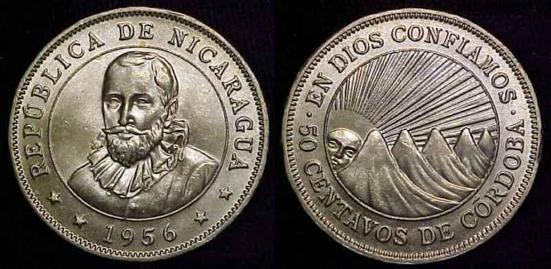 NICARAGUA 1956 50 Centavos Gem BU ***