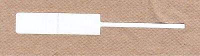 THERMAL TRANSFER RAT TAIL JEWELRY TAGS - 3000 tags per roll