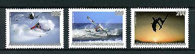 Liechtenstein 2017 MNH Outdoor Sports Skiing Surfing Windsurfing 3v Set Stamps