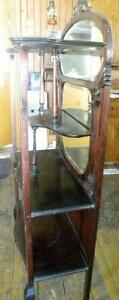 Étagère (currius) antique avec miroir bisauté