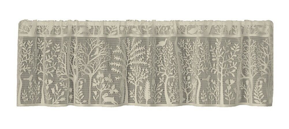 Heritage Lace Cafe RABBIT HOLLOW Window Valance - Flowers,