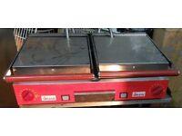 Sirman double ribbed panini toaster contact grill italian