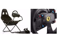 Thrustmaker T300 Alcantara Edition + Playstation seat ( Playseat ) Steering Wheel PC Sony Xbox