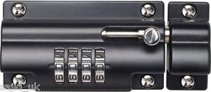 Sterling Combination Code Lock Sliding Door Bolt for Gates Doors Sheds - 110mm