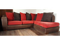 Corner Sofa Brown/Red --Can Deliver--