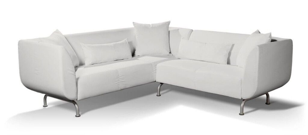 Stromstad real leather corner sofa ivory - very good condition