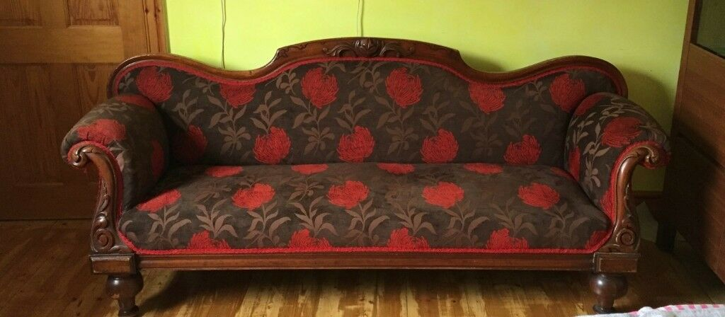 Antique Queen Anne Double End Chaise Lounge In Galashiels