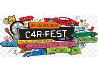 Carfest South adult weekend camping ticket
