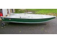 Quicksilver 355SL Aluminium Boat Complete with Oars and Launching Wheels