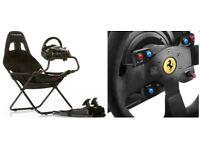 FERRARI RACING WHEEL T300 Alcantara Thrustmaster + Play seat PC PS3 PS4