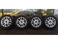 "Volvo XC 18"" alloy wheels and winter tyres."