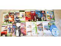 Wii console +board, games, skylanders figures