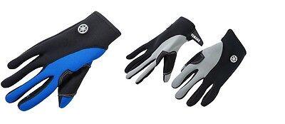YAMAHA Neoprene Full-Finger PWC Gloves Gray Black BlueFZR FX-HO VX VXR SHO GPR ()