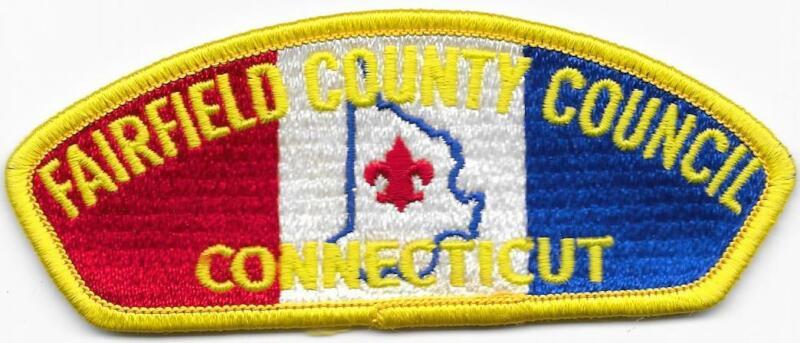 Fairfield County Council Strip Plastic Back CSP SAP Boy Scouts of America BSA