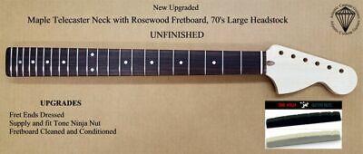 New UNFINISHED Telecaster Maple Neck, Rosewood Fretboard. ACG-TRUBH - $142.95