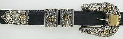 Clint Orms Original Silver & 14K Gold Belt Buckle Handmade Custom