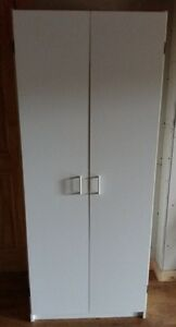 2 Door White Wardrobe