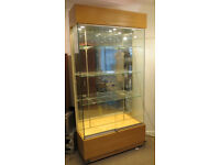 vintage glass fronted display case